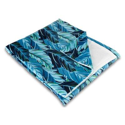 Tropical Midnight Jungle Fleece Throw Blanket