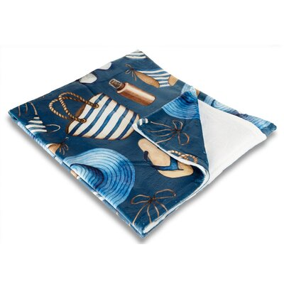Coastal Coastal Fleece Throw Blanket