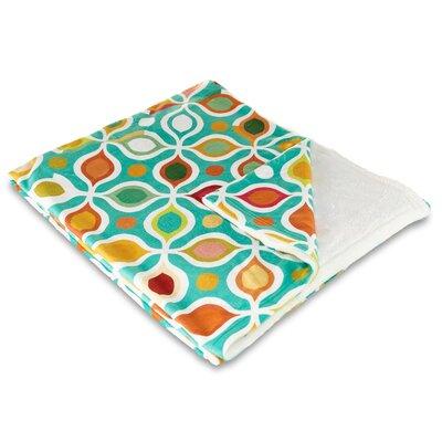Modern Vintage Geometric Fleece Throw Blanket