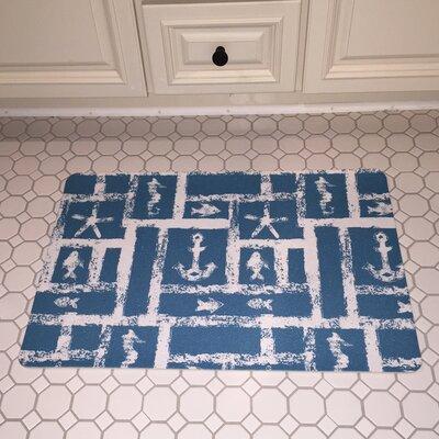 Coastal Ocean Squares Floor Mat