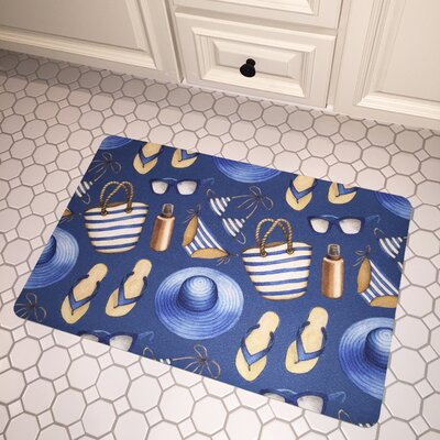 Coastal Summer Holiday Floor Mat