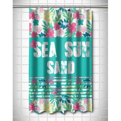 Coastal Sea Sun Sand Shower Curtain