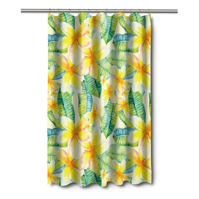 Tropical Plumeria Shower Curtain