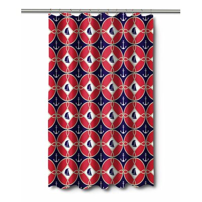 Nautical Sailboats and Anchors Shower Curtain