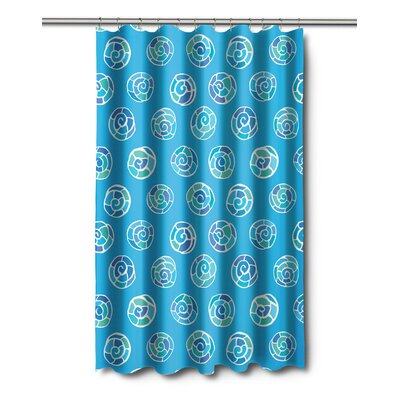 Coastal Nautilus Shell Sketch Shower Curtain