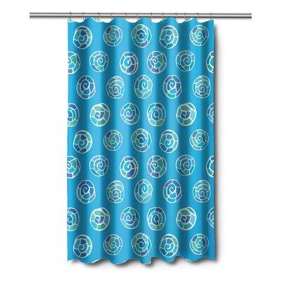 Coastal Nautilus Shell Sketch Shower Curtain