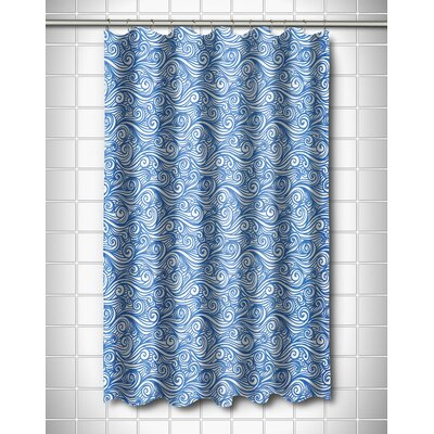 Coastal Dreamy Sea Shower Curtain Color: Blue