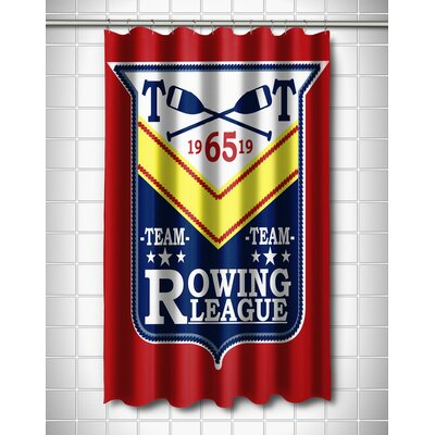Nautical Rowing League Shower Curtain