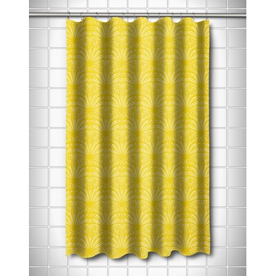 Modern Art Deco Goldenrod Shower Curtain Color: Yellow