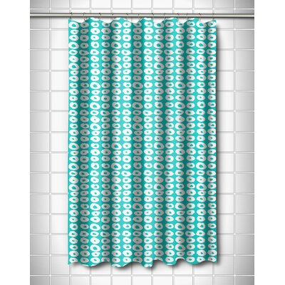 Modern Doughnuts Aqua Shower Curtain Color: Aqua