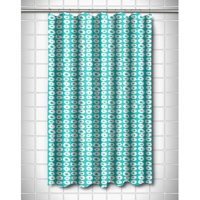 Modern Doughnuts Aqua Shower Curtain Color: Aqua