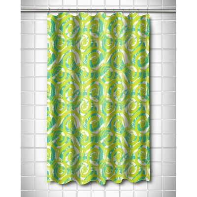 Modern Swirls Lime Shower Curtain