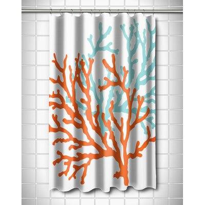 Waterbury Nautical Shower Curtain Color: Orange