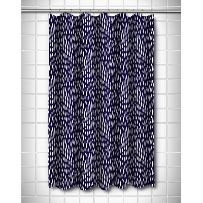 Hipster Shower Curtain Color: Navy