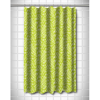 Hipster Shower Curtain Color: Lime
