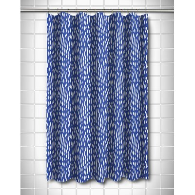 Hipster Shower Curtain Color: Cobalt