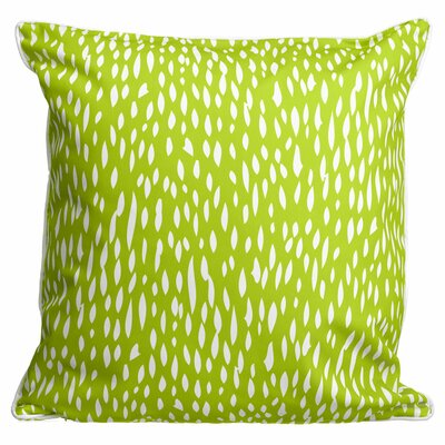 Hipster Coral Throw Pillow Color: Lime