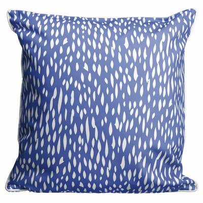 Hipster Coral Throw Pillow Color: Cobalt