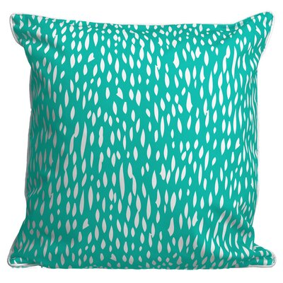 Hipster Coral Throw Pillow Color: Aqua