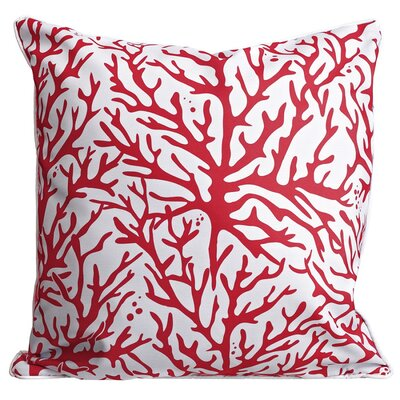 Waterbury Throw Pillow Color: Red