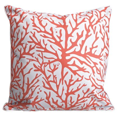 Waterbury Throw Pillow Color: Coral