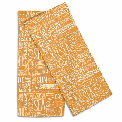 Coastal Beach Vacation Words Hand Towel IGH-KT07