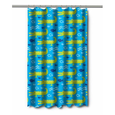 Coastal Ali the Alligator Shower Curtain