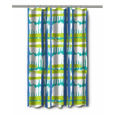 Modern Coastal Grid Shower Curtain