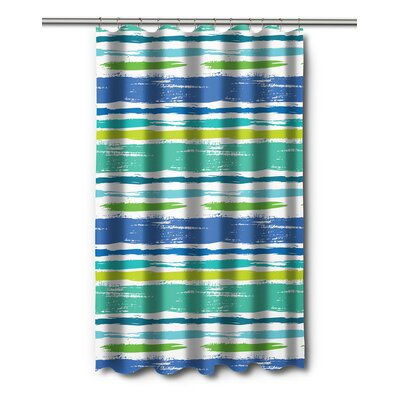 Modern Coastal Lines Shower Curtain