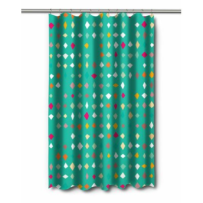 Modern Diamonds Confetti Shower Curtain