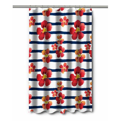 Garden Nasturtiums Shower Curtain