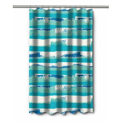 Modern Ocean Currents Shower Curtain