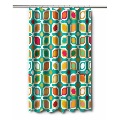 Modern Vintage Geometric Shower Curtain