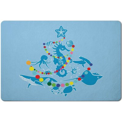 Holiday Sea Life Christmas Tree Doormat