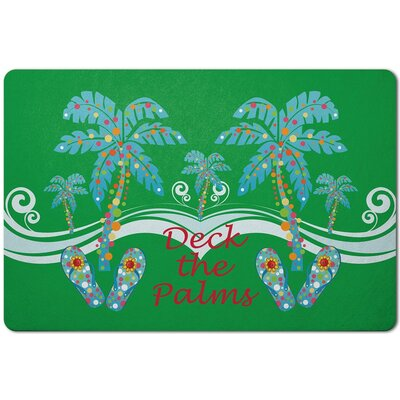 Holiday Deck the Palm Doormat