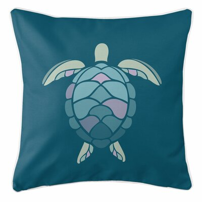 Andros Sea Turtle Shell Throw Pillow