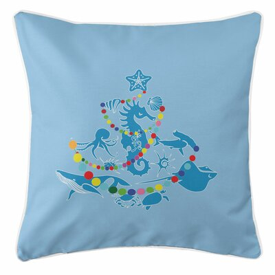 Holiday Sea Life Christmas Tree Throw Pillow