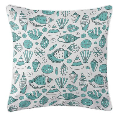 Coastal Shells Throw Pillow