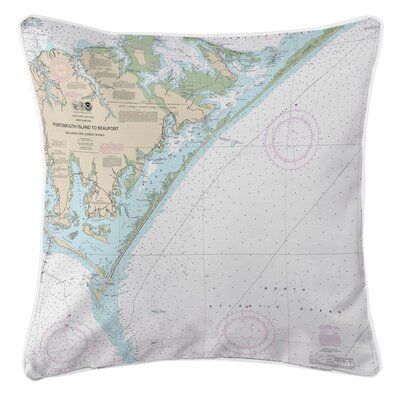 Ellisburg Portsmouth Island to Beaufort, NC Throw Pillow
