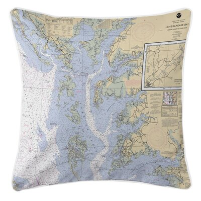 Ellisburg Chesapeake Bay, MD-VA Throw Pillow