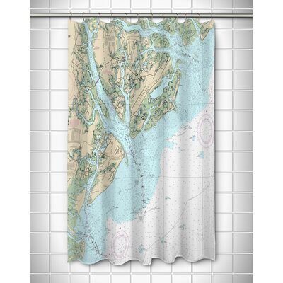 Ellisburg Hilton Head Island, SC Polyester Shower Curtain