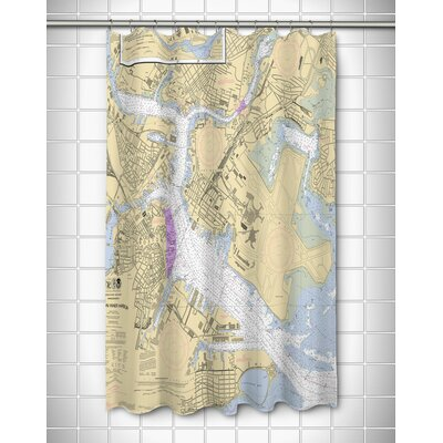 Ellisburg Boston, MA Polyester Shower Curtain