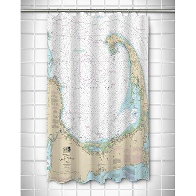 Ellisburg Cape Cod, MA Polyester Shower Curtain