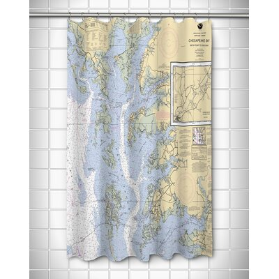 Ellisburg Chesapeake Bay, MD-VA Polyester Shower Curtain