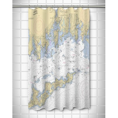 Ellisburg Fishers Island Sound, CT Polyester Shower Curtain