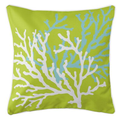 Waterbury Square Throw Pillow Color: Lime