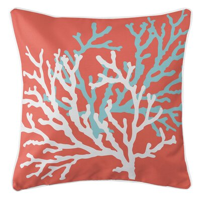 Coral Duo Throw Pillow Color: Coral