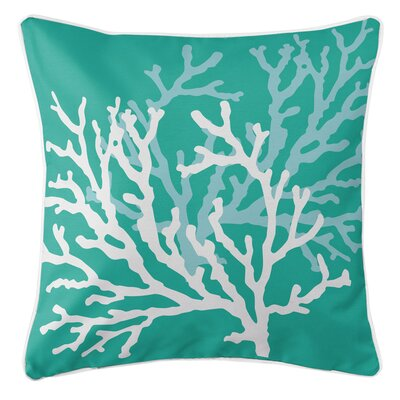 Waterbury Square Throw Pillow Color: Aqua