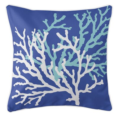 Waterbury Square Throw Pillow Color: Cobalt