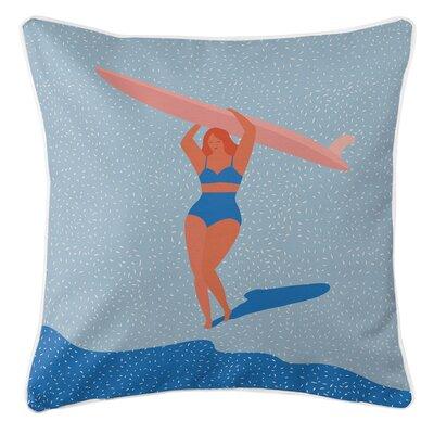 Surfer Girl Molly Throw Pillow